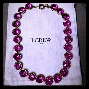 J Crew Crystal Brulee Magenta Necklace